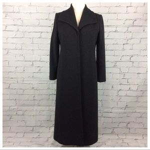 Fleurette Long Wool Coat, Size 14